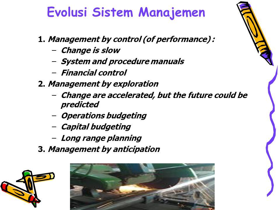 Evolusi Sistem Manajemen