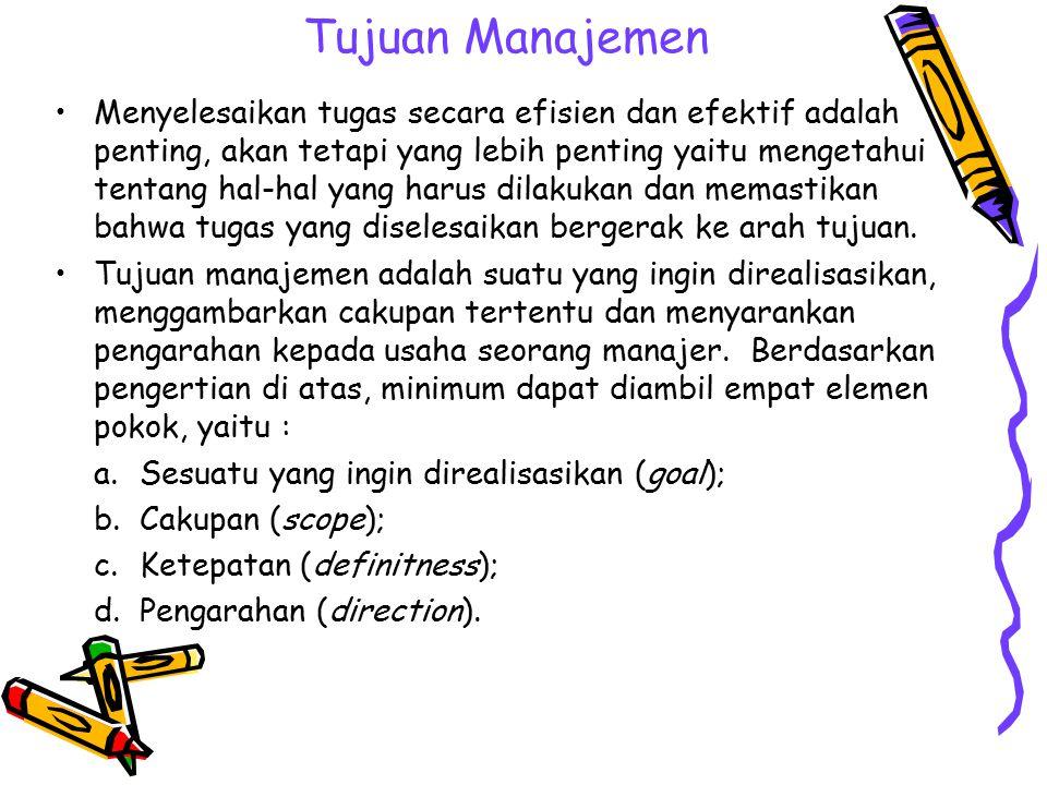 Tujuan Manajemen