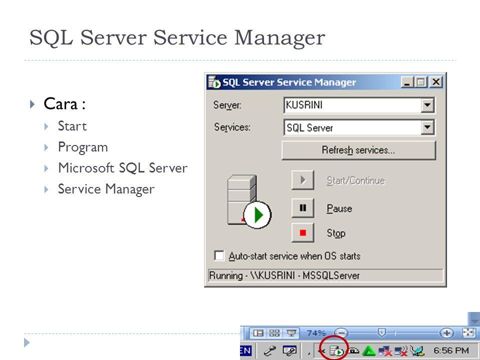 SQL Server Service Manager