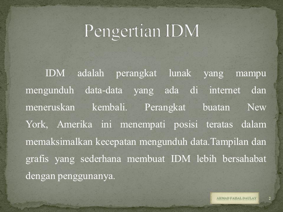 Pengertian IDM