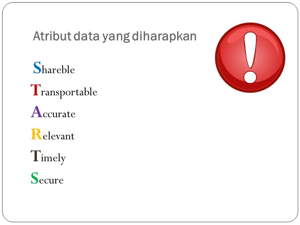 Atribut data yang diharapkan