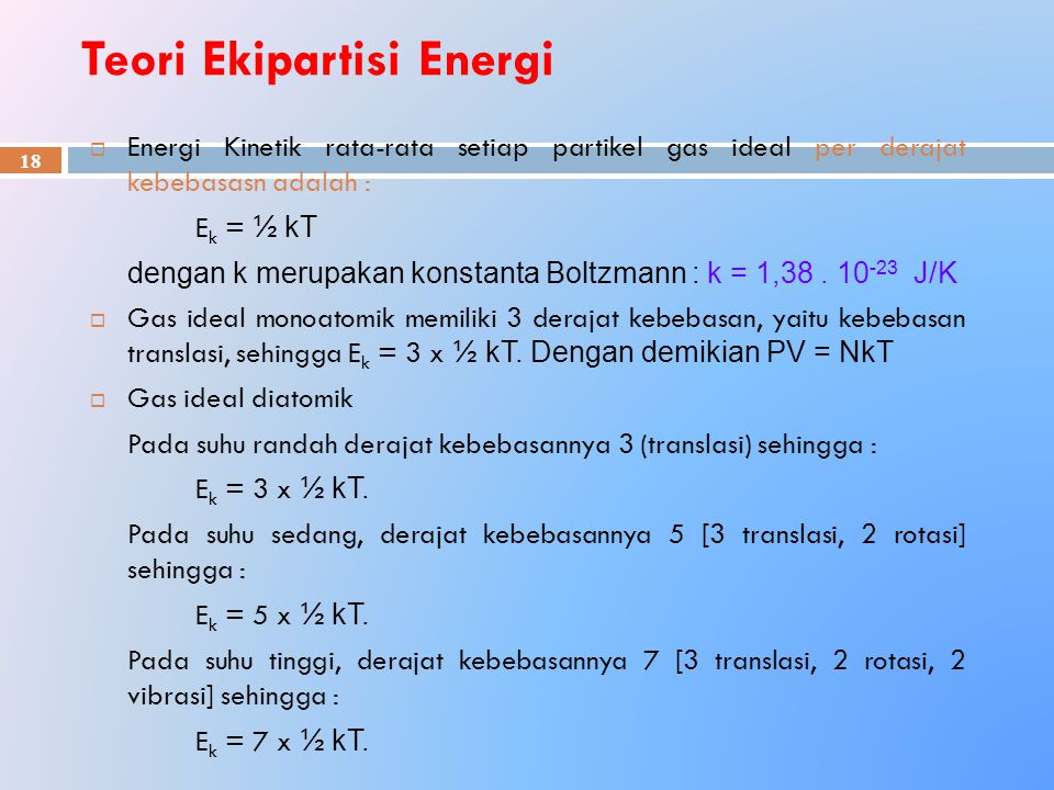 Teori Ekipartisi Energi