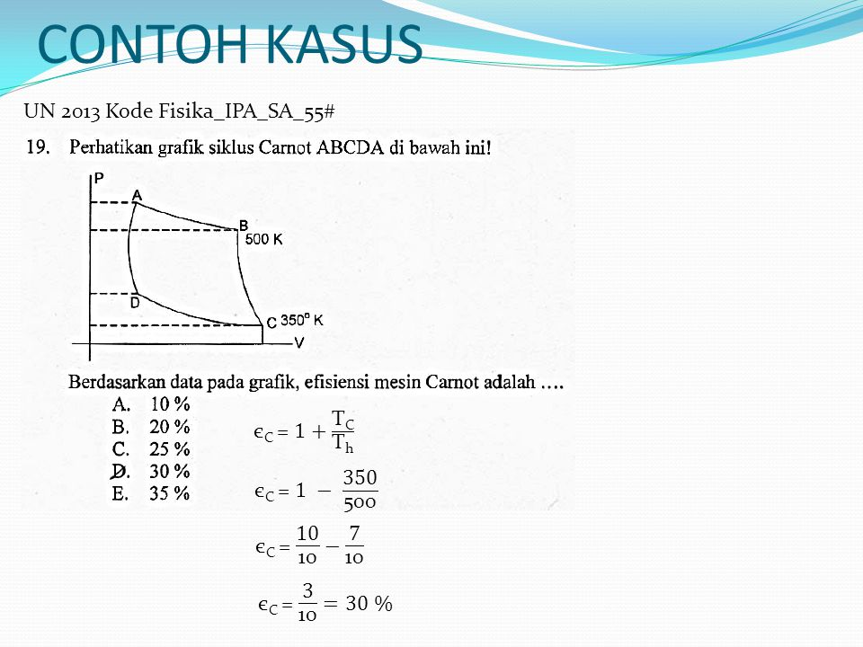 CONTOH KASUS UN 2013 Kode Fisika_IPA_SA_55# єC = 1+ TC Th