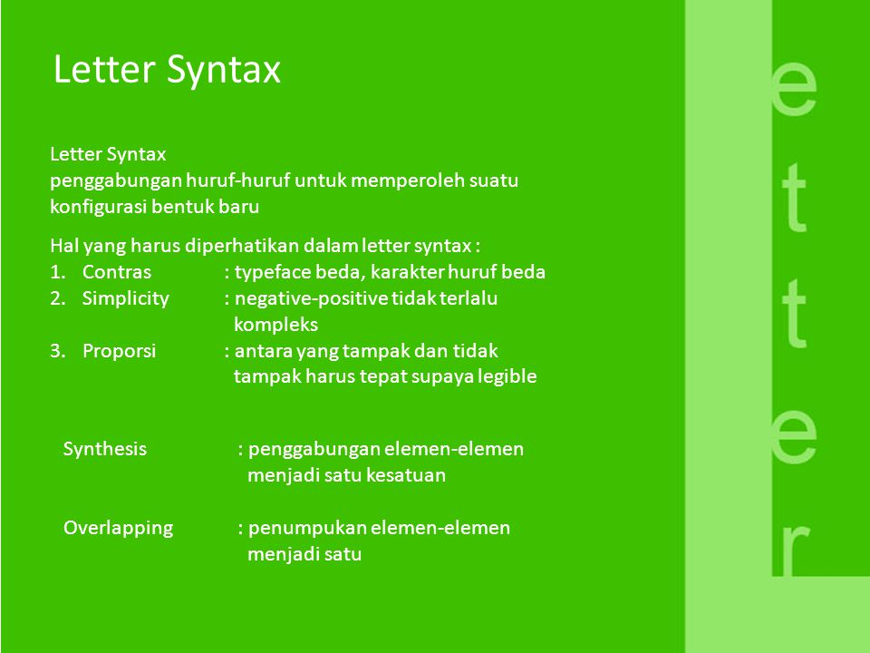 Letter Syntax Letter Syntax