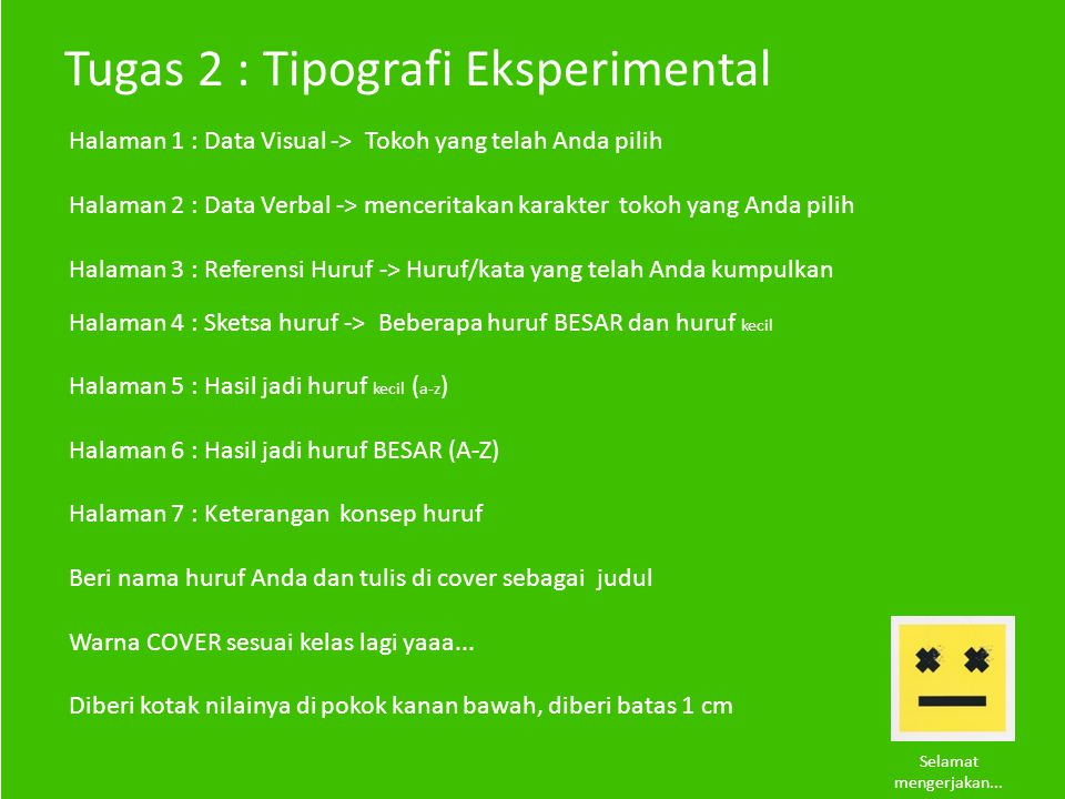Tugas 2 : Tipografi Eksperimental