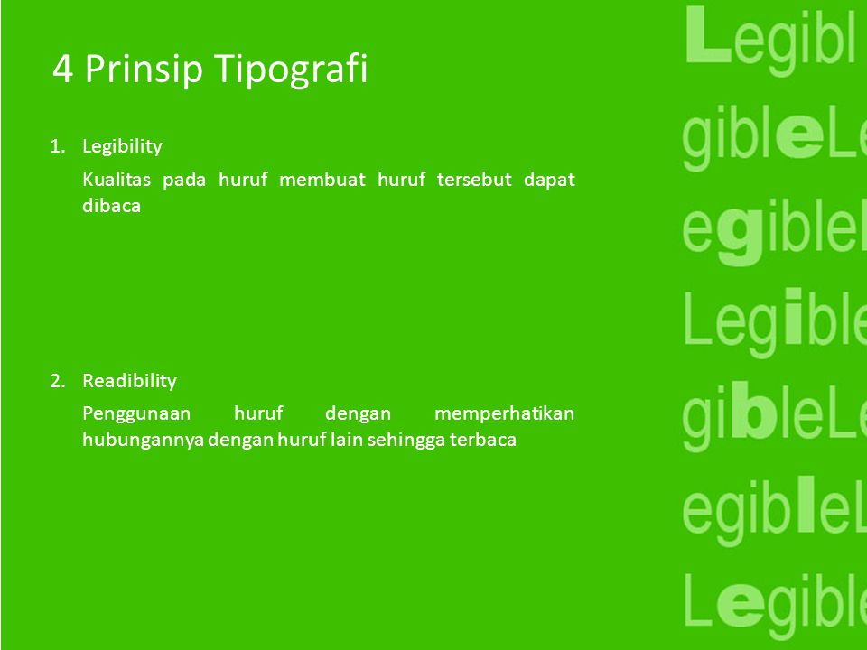 4 Prinsip Tipografi Legibility