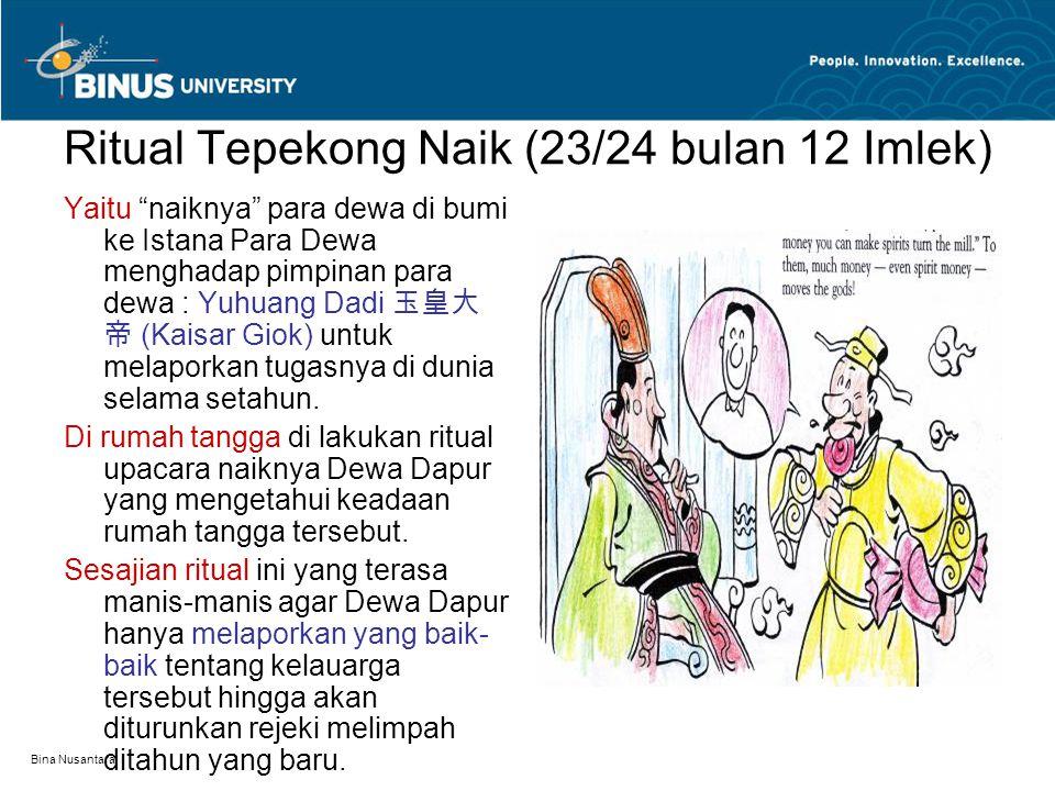 Ritual Tepekong Naik (23/24 bulan 12 Imlek)