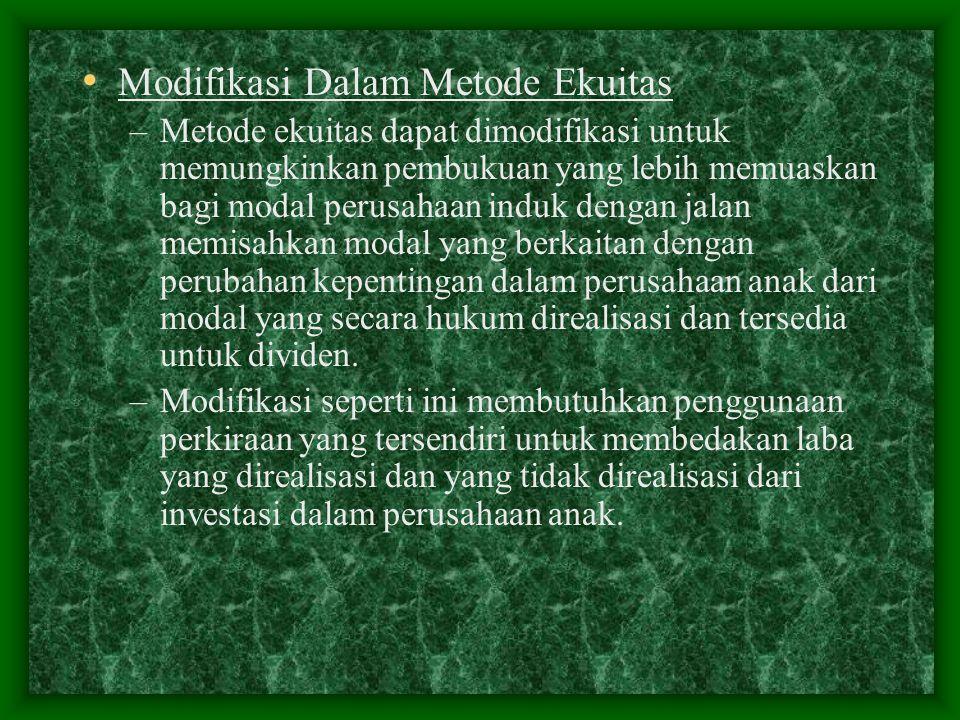 Modifikasi Dalam Metode Ekuitas