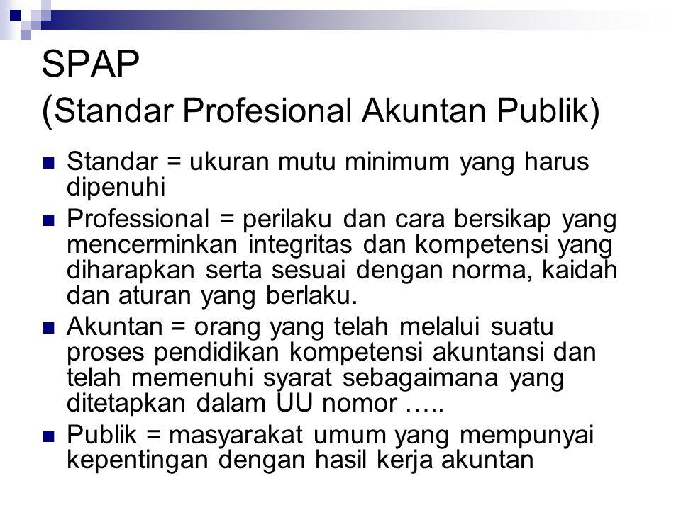 SPAP (Standar Profesional Akuntan Publik)
