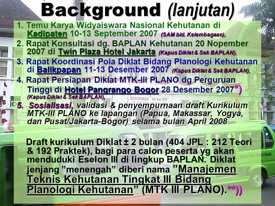 Background (lanjutan)