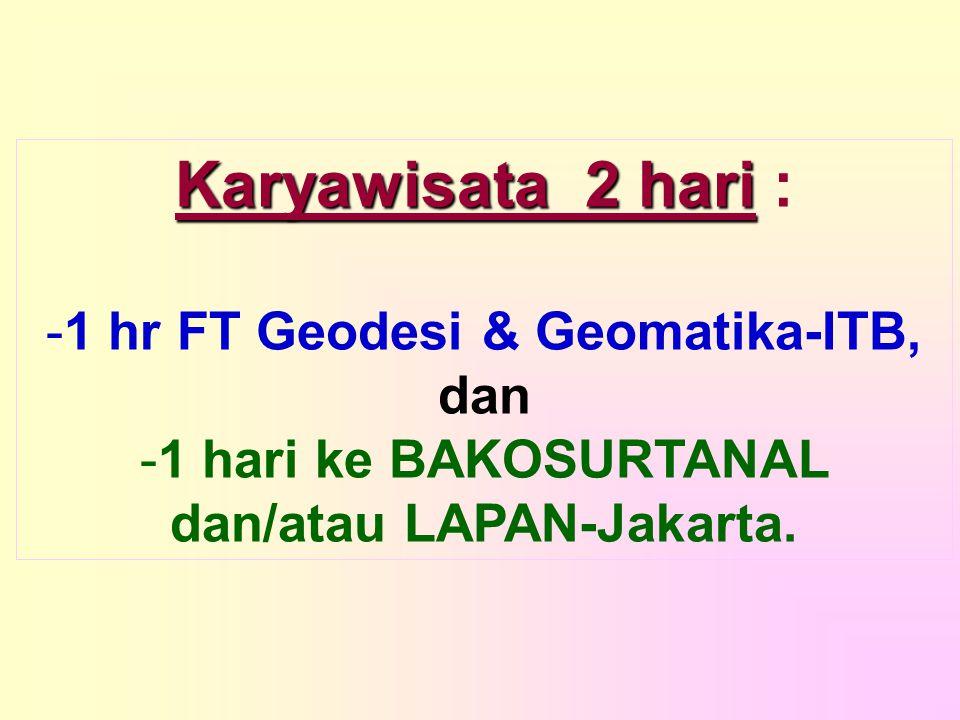 1 hr FT Geodesi & Geomatika-ITB, dan