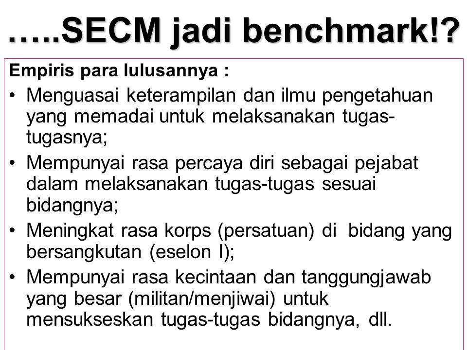 …..SECM jadi benchmark! Empiris para lulusannya : Menguasai keterampilan dan ilmu pengetahuan yang memadai untuk melaksanakan tugas-tugasnya;