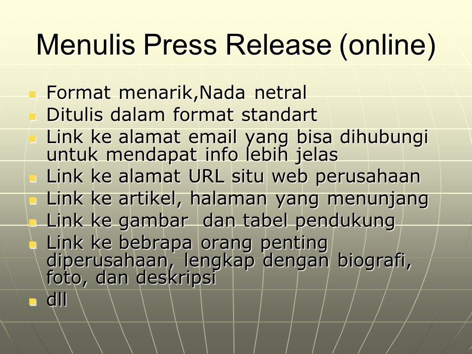 Menulis Press Release (online)