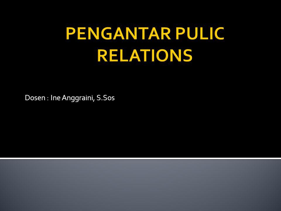PENGANTAR PULIC RELATIONS