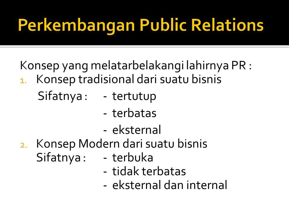 Perkembangan Public Relations