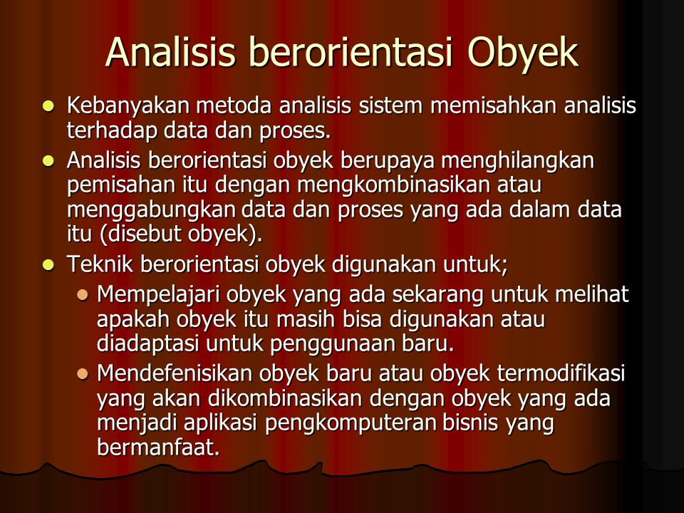 Analisis berorientasi Obyek