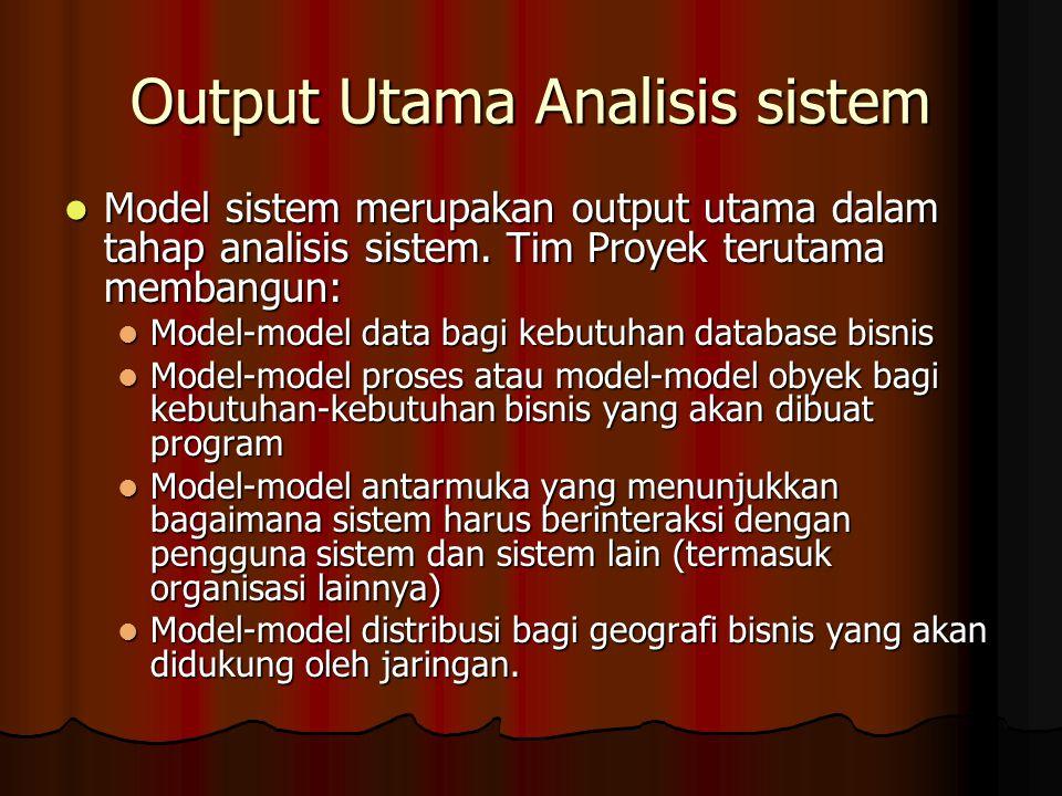 Output Utama Analisis sistem