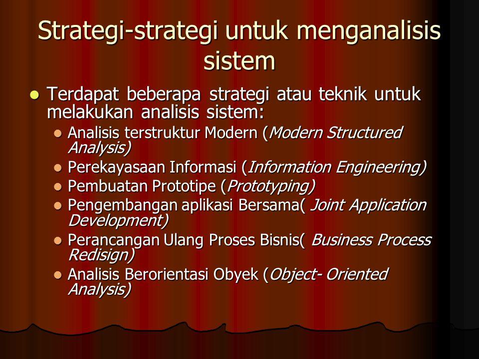 Strategi-strategi untuk menganalisis sistem