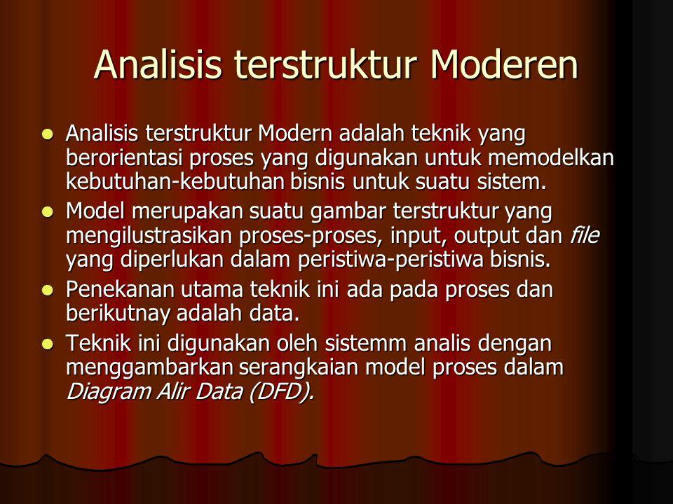 Analisis terstruktur Moderen