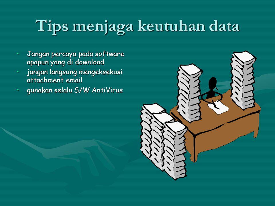 Tips menjaga keutuhan data