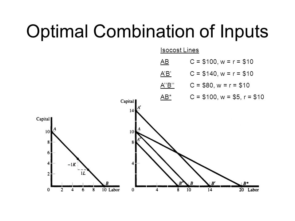Optimal Combination of Inputs