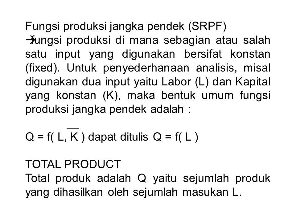 Fungsi produksi jangka pendek (SRPF)