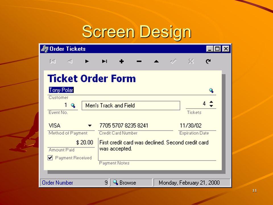 Screen Design Teaching Tips