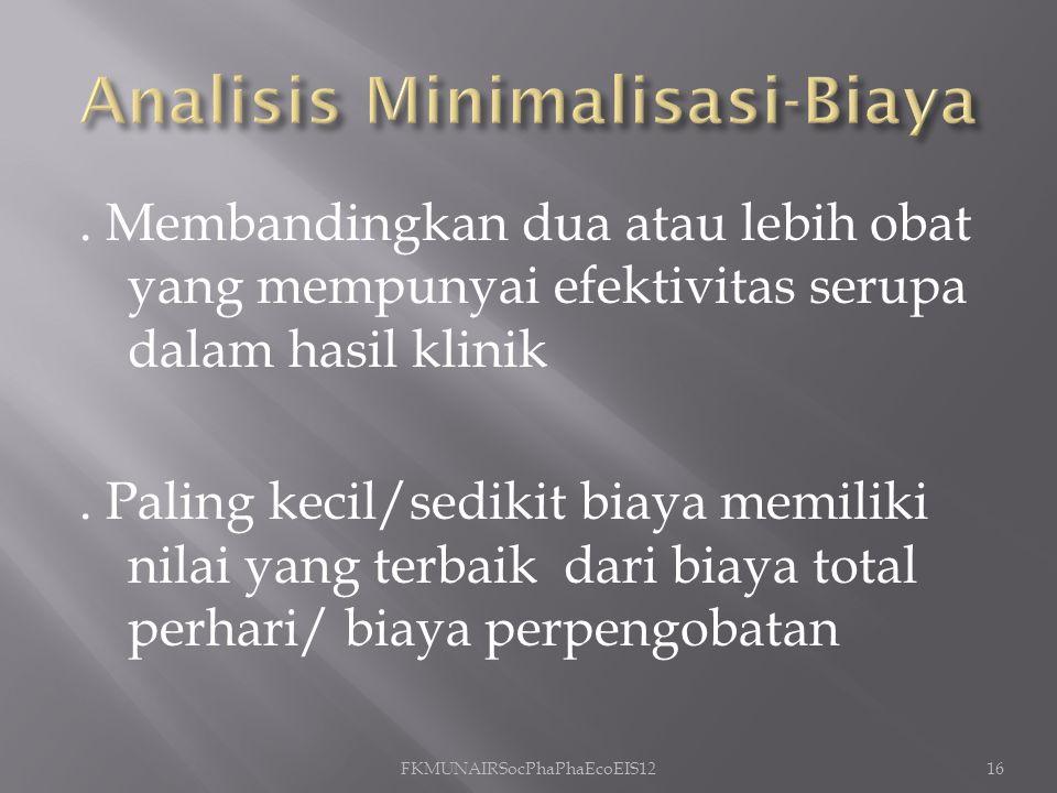 Analisis Minimalisasi-Biaya