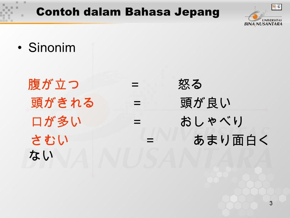 Contoh dalam Bahasa Jepang