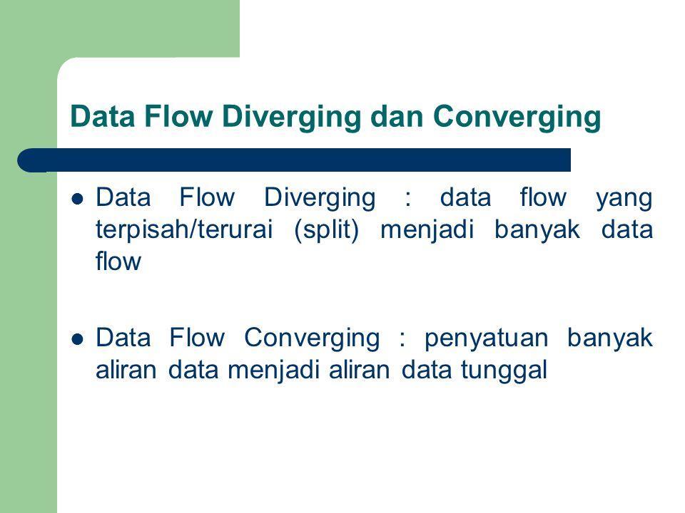 Data Flow Diverging dan Converging
