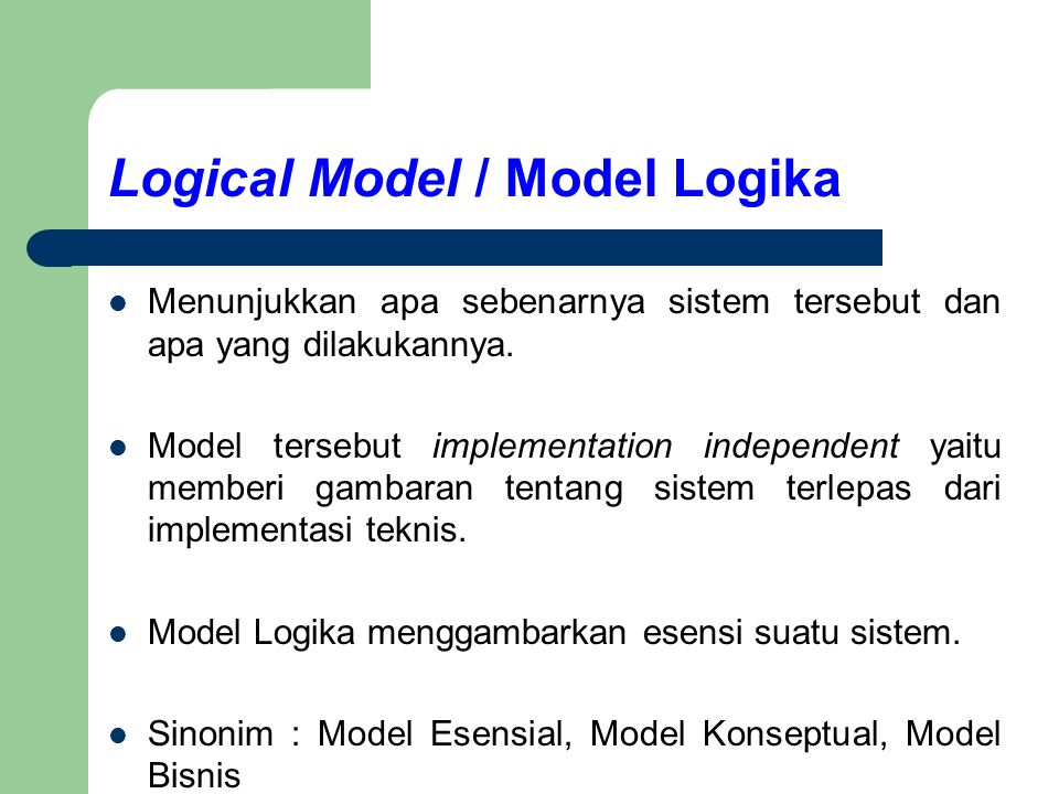Logical Model / Model Logika