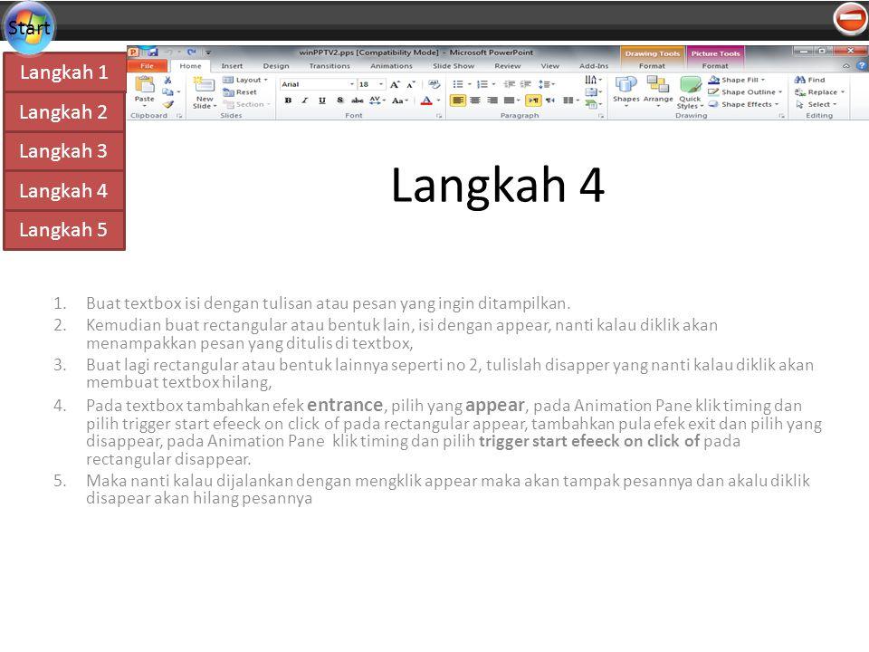 Langkah 4 Buat textbox isi dengan tulisan atau pesan yang ingin ditampilkan.