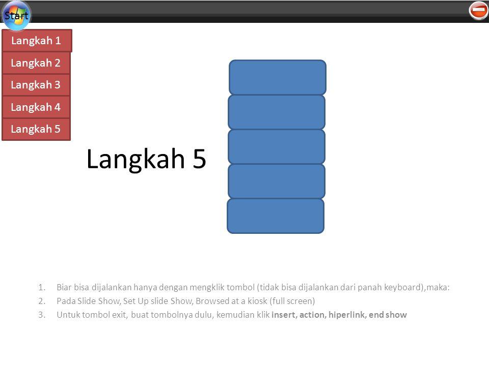 Langkah 5 Biar bisa dijalankan hanya dengan mengklik tombol (tidak bisa dijalankan dari panah keyboard),maka: