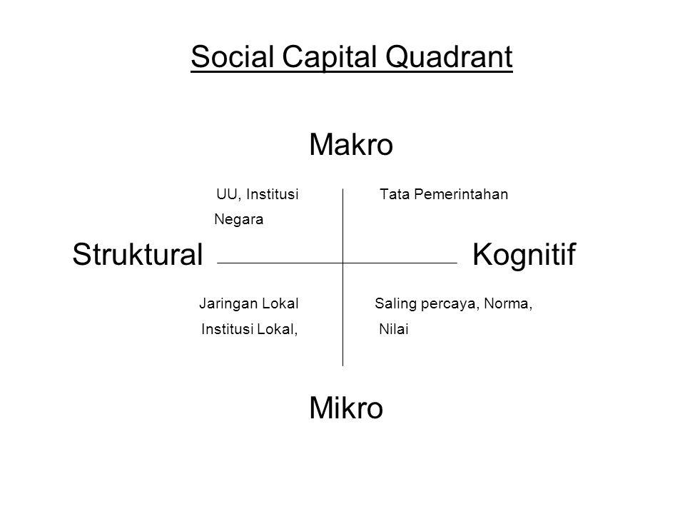 Social Capital Quadrant Makro UU, Institusi Tata Pemerintahan