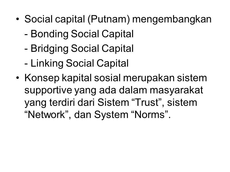 Social capital (Putnam) mengembangkan