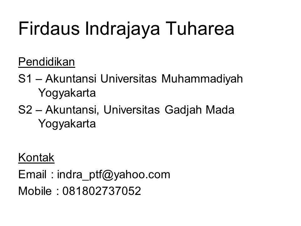 Firdaus Indrajaya Tuharea