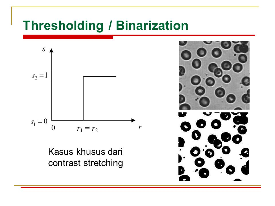 Thresholding / Binarization