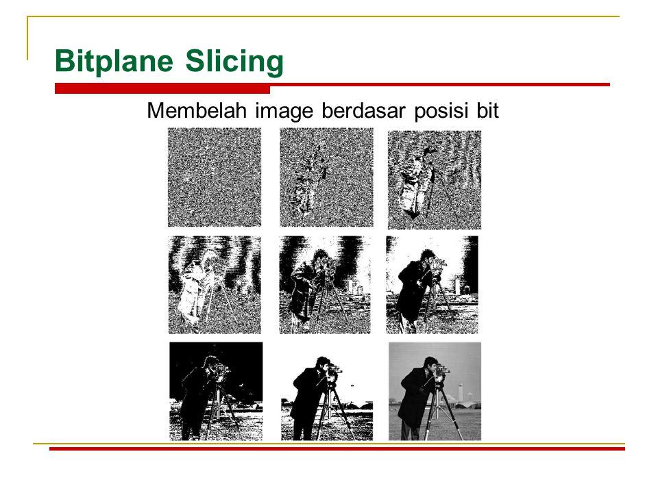 Membelah image berdasar posisi bit