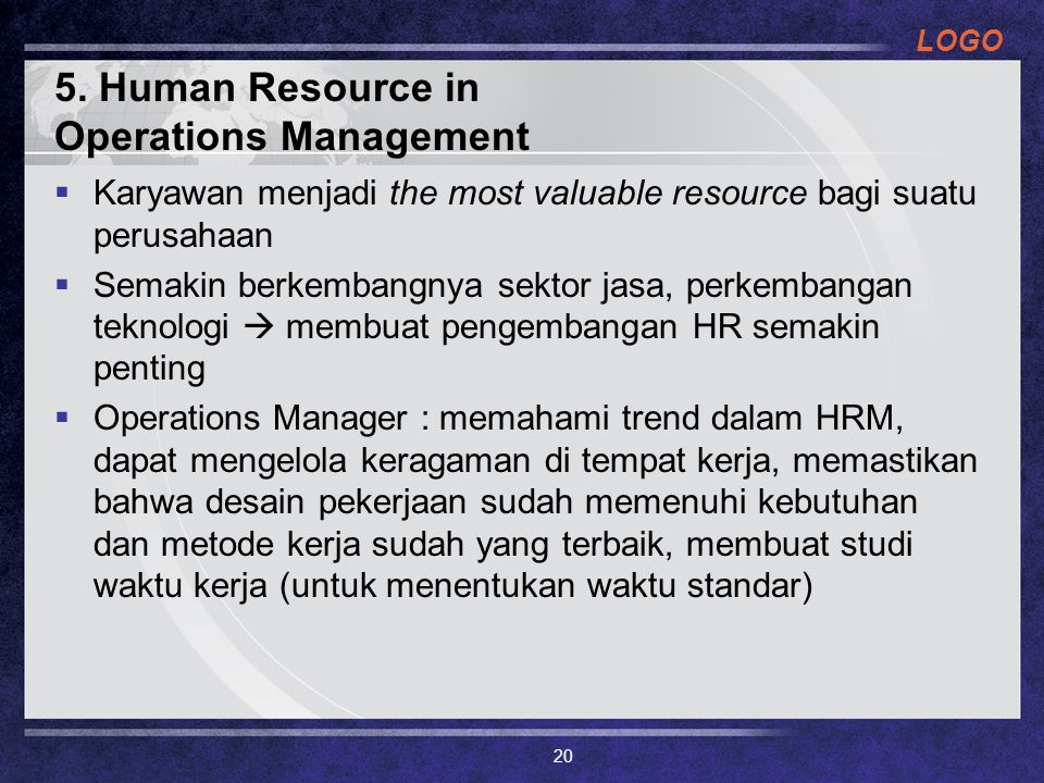 5. Human Resource in Operations Management