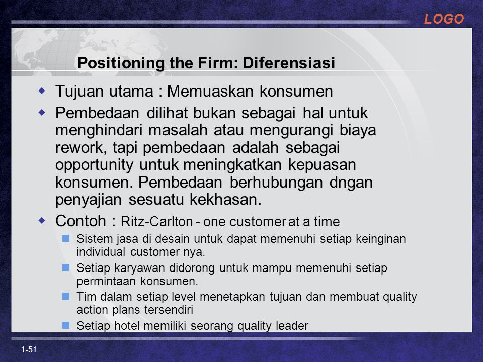 Positioning the Firm: Diferensiasi