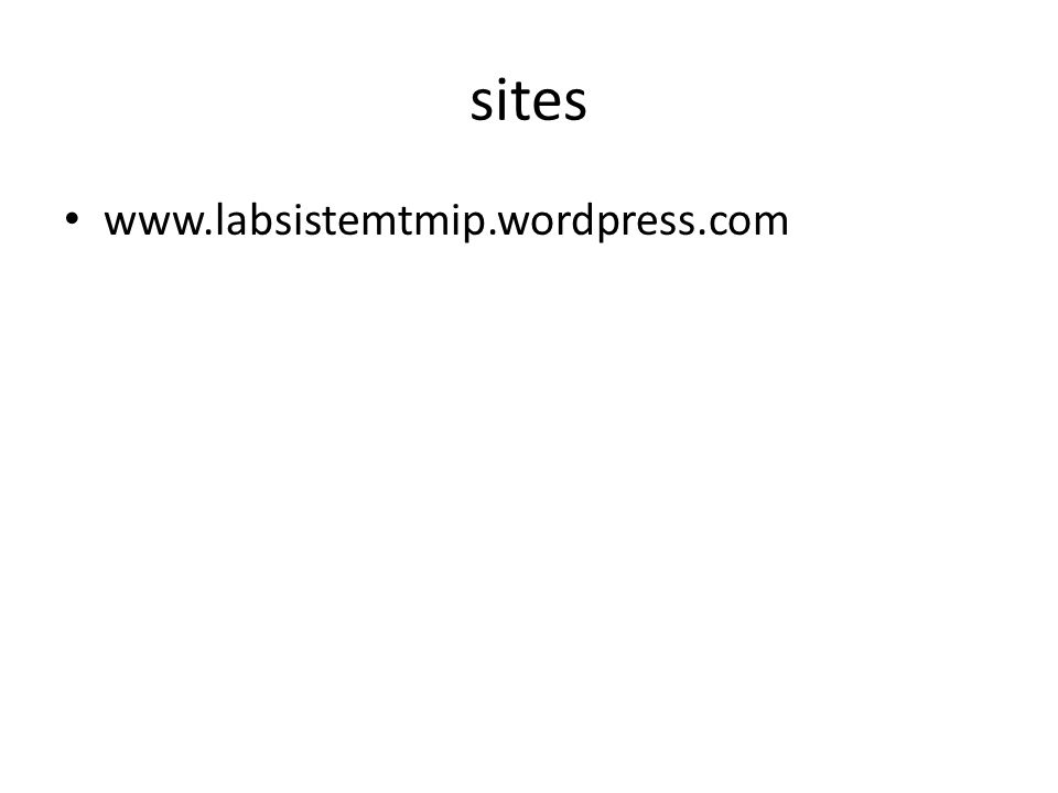 sites www.labsistemtmip.wordpress.com