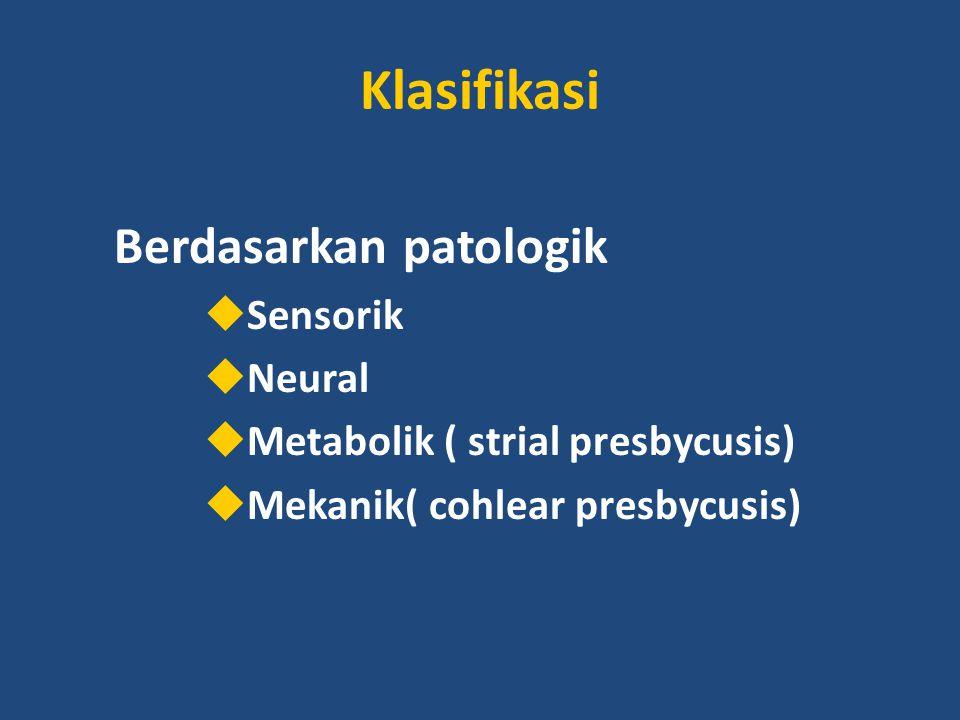 Klasifikasi Berdasarkan patologik Sensorik Neural