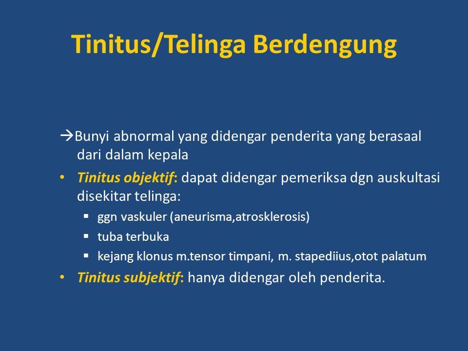 Tinitus/Telinga Berdengung