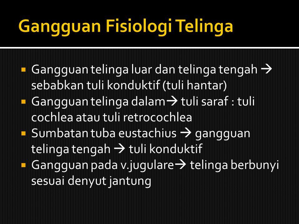 Gangguan Fisiologi Telinga