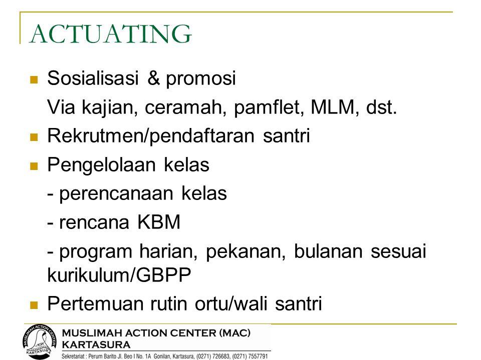 ACTUATING Sosialisasi & promosi