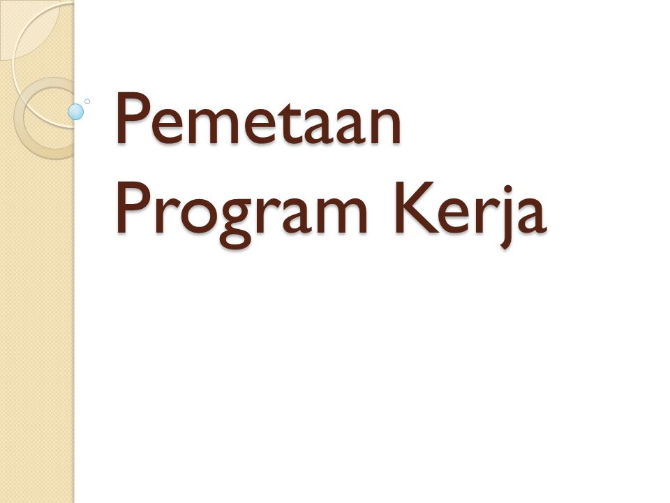 Pemetaan Program Kerja