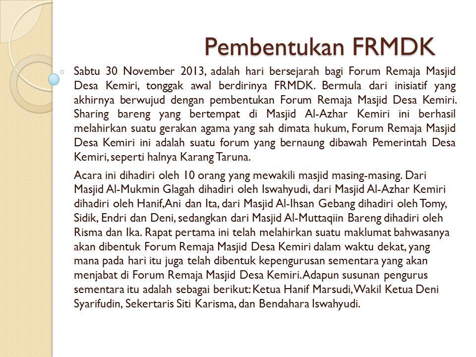 Pembentukan FRMDK