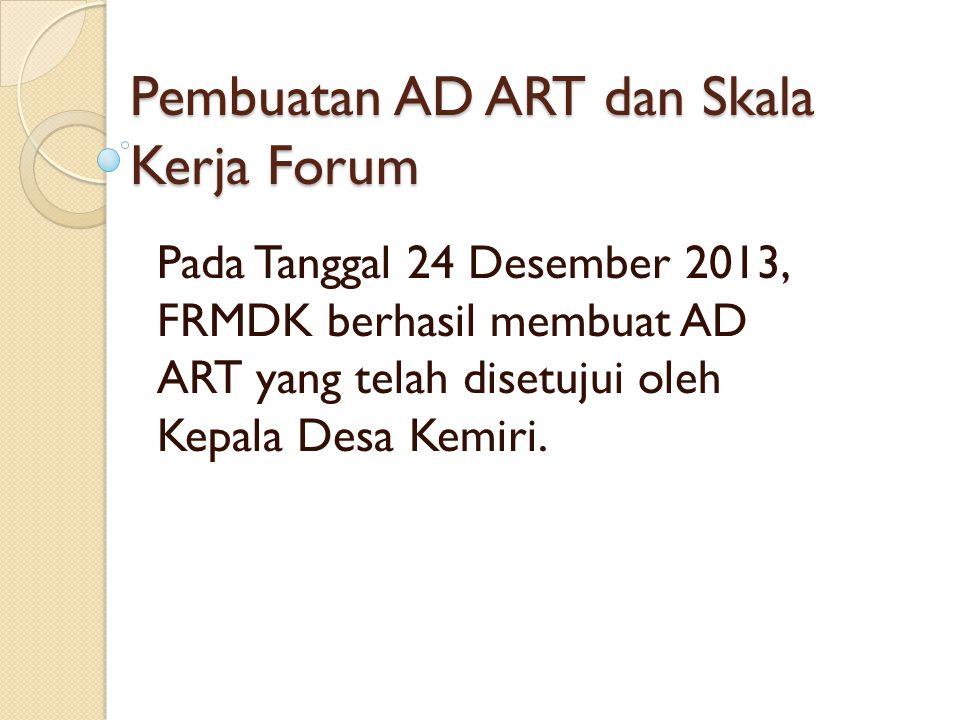 Pembuatan AD ART dan Skala Kerja Forum