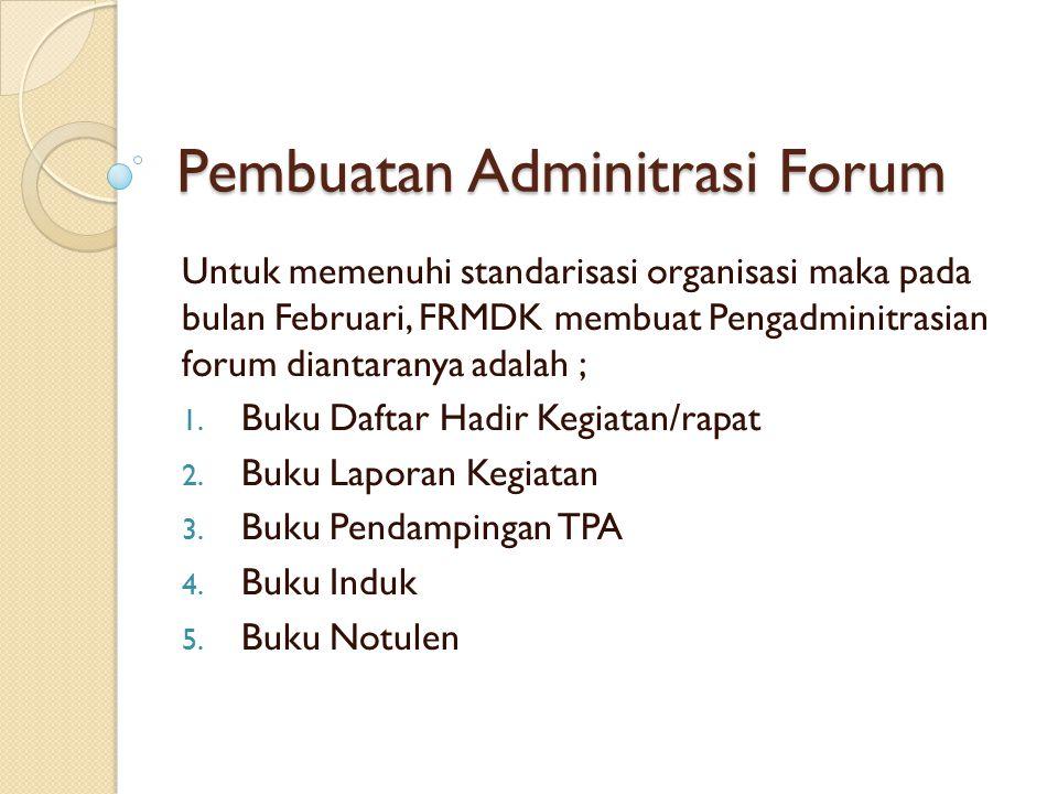 Pembuatan Adminitrasi Forum