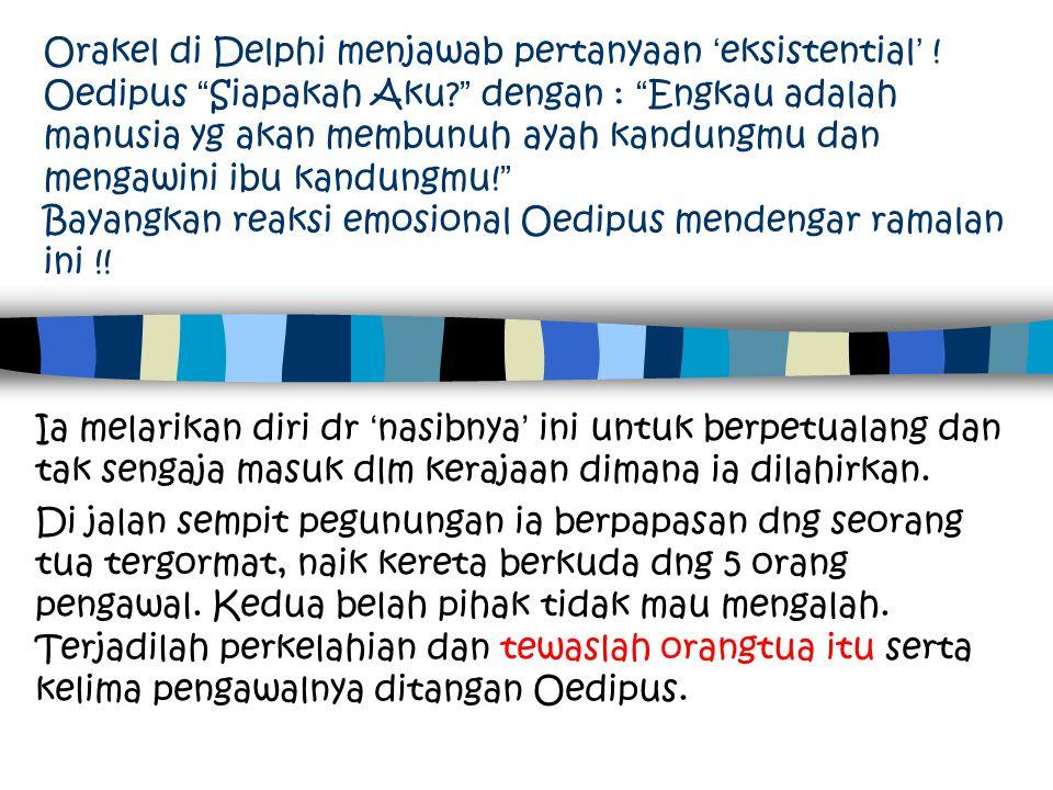 Orakel di Delphi menjawab pertanyaan 'eksistential'